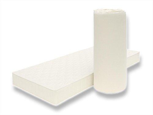POLY Orthopädische Matratze mit Klimafaser-Bezug für jede Jahreszeit geeignet Markenware BRECKLE - Grösse 80x180