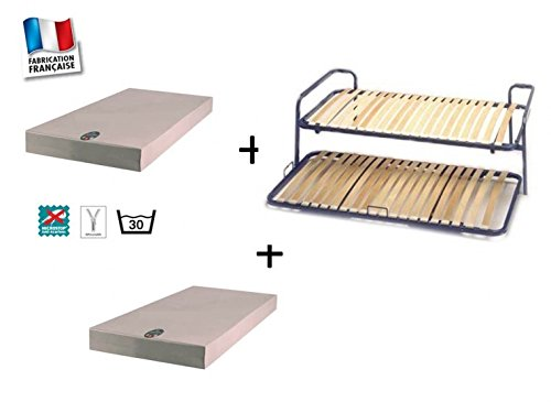 Pack Lattenrost Zusammenstecken Armlehnen + Matratze