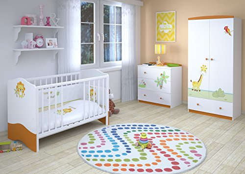 Polini kids babyzimmer kinderzimmer komplett set l basic for Babyzimmer set junge