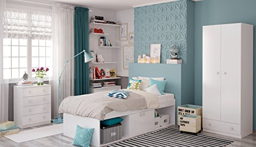 polini kids funktionsbett jugendbett kinderbett stauraumbett mit aufbewahrung simple 3000. Black Bedroom Furniture Sets. Home Design Ideas