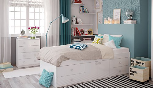 polini kids jugendbett kinderbett stauraumbett mit aufbewahrung und schubladen simple 3100. Black Bedroom Furniture Sets. Home Design Ideas