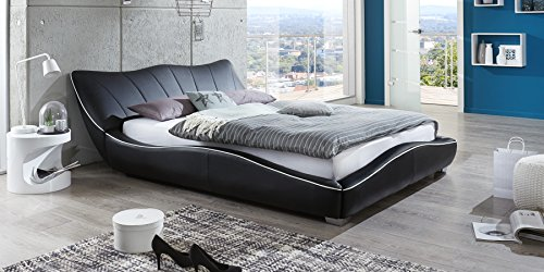 polsterbett 160x200 mit lattenrost designer bett stella schwarz m bel24 boxspringbetten. Black Bedroom Furniture Sets. Home Design Ideas