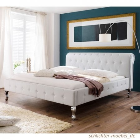 polsterbett barock 140x200cm wei boxspringbetten. Black Bedroom Furniture Sets. Home Design Ideas