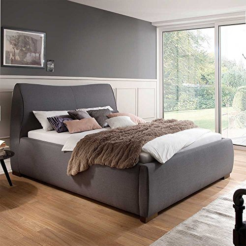 polsterbett in grau 180x200 cm pharao24 boxspringbetten. Black Bedroom Furniture Sets. Home Design Ideas