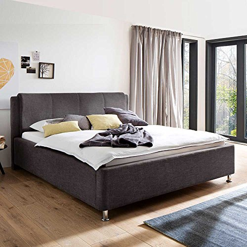 polsterbett mit bettkasten und lattenrosten braun pharao24 boxspringbetten. Black Bedroom Furniture Sets. Home Design Ideas