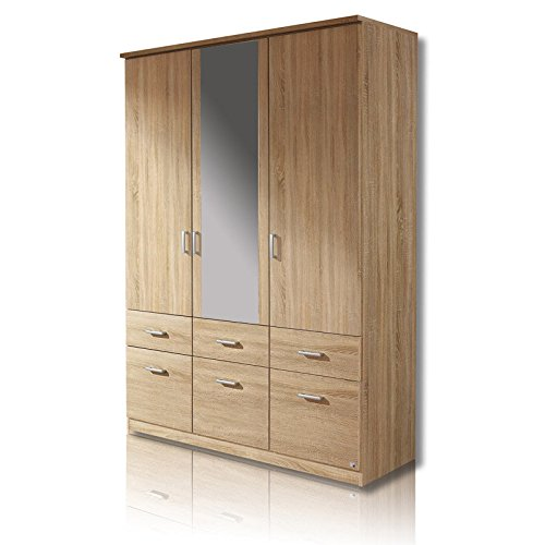 roller dreht renschrank bremen sonoma eiche 136 cm. Black Bedroom Furniture Sets. Home Design Ideas