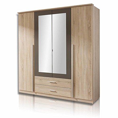 roller kleiderschrank krefeld sonoma eiche grau 181 cm 0. Black Bedroom Furniture Sets. Home Design Ideas
