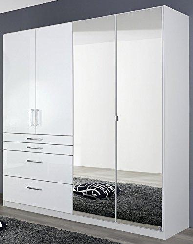 rauch an840 0v0e kleiderschrank homburg 4 t rig 2 spiegelt ren b 181 h 197 t 54 cm korpus. Black Bedroom Furniture Sets. Home Design Ideas