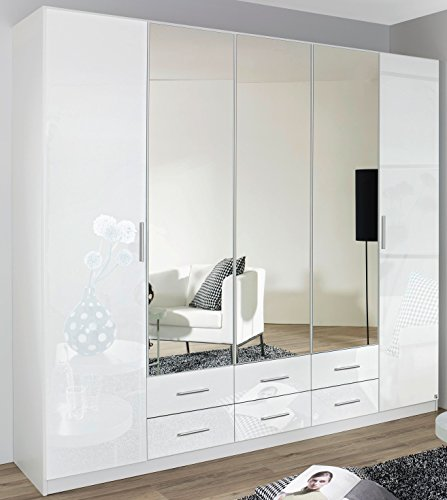 rauch kleiderschrank 5 t rig 3 spiegelt ren 6. Black Bedroom Furniture Sets. Home Design Ideas