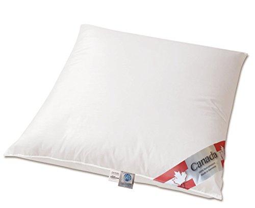 Revita Daunenkissen PLUS Kopfkissen 100 % canada Daune ohne Federnanteil 80x80 cm | PLUS = 100 Gramm mehr Inhalt, als das klassische Revita Kissen!
