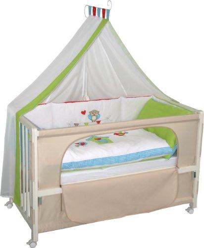 roba roombed babybett 60x120cm waldhochzeit beistellbett zum elternbett mit kompletter. Black Bedroom Furniture Sets. Home Design Ideas