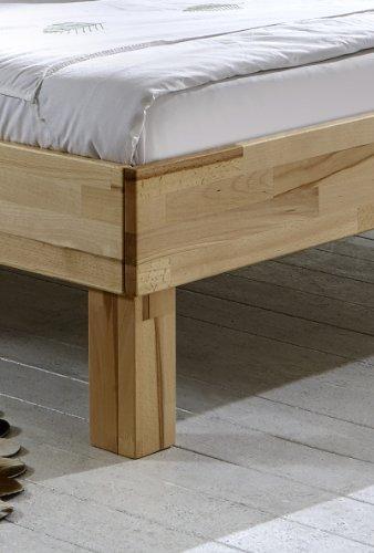 SAM® Holzbett Julia wahlweise in Buche geölt, Buche weiß geölt, Buche wenge geölt oder Wildeiche geölt in 6 verschiedenen Größen
