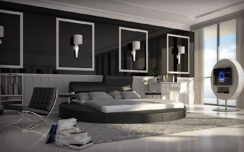 sam rundbett innocent 160 cm rund uni schwarz hochwertig pflegeleicht exklusiv 53256821. Black Bedroom Furniture Sets. Home Design Ideas