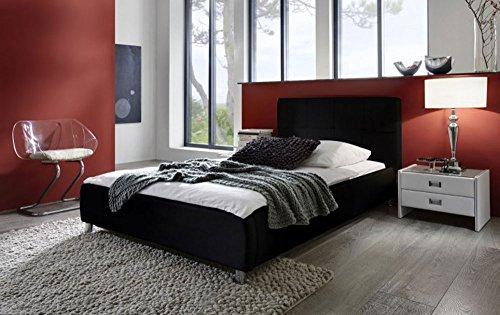 verschiedenen gren in wei oder schwarz bett mit gepolstertem kopfteil. Black Bedroom Furniture Sets. Home Design Ideas