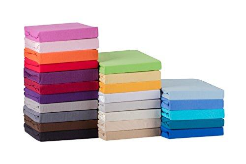 S.Ariba Soft Comfort Baumwolle Jersey-Stretch Spannbettlaken