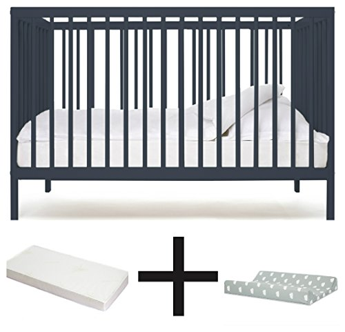 SUPER BABY BED in Buchenholz + MATRATZE + COT CHANGING MAT