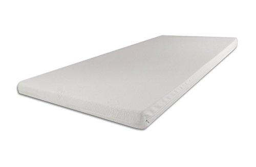 SW Bedding Topper Viscoelastische Matratzenauflage 9 cm mit Bezug medicare H2