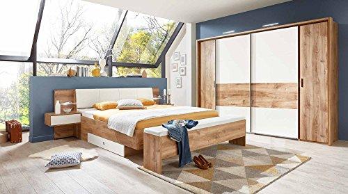 Schlafzimmer, Schlafzimmermöbel, Set Komplett, Komplettset,  Schlafzimmereinrichtung, Komplettangebot, Einrichtung, Plankeneiche. U003e