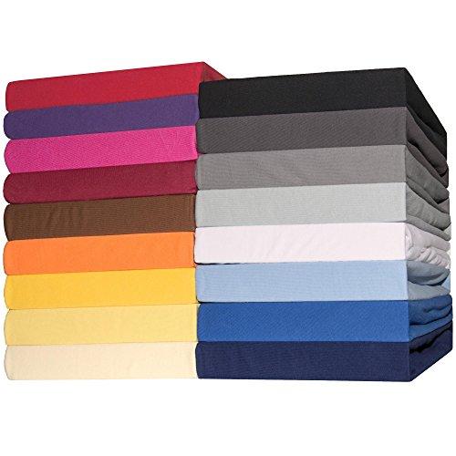 Spannbettlaken Jersey Baumwolle | viele Farben alle Größen | Spannbetttuch für Matratzen | CelinaTex Lucina