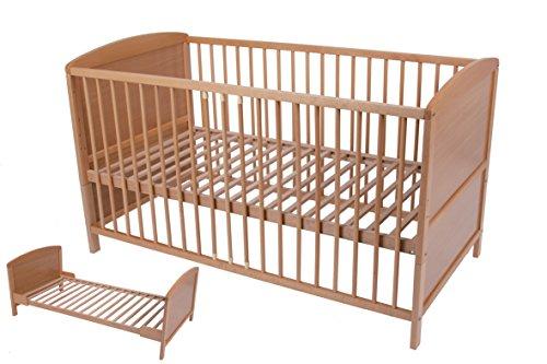 umbau babybett kinderbett gitterbett buche 140 x 70 cm boxspringbetten. Black Bedroom Furniture Sets. Home Design Ideas