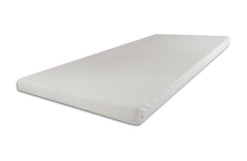 Viscoelastische Matratzenauflage 9cm H3 fest mit Bezug Ideal