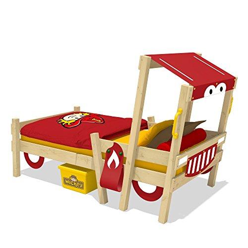 wickey feuerwehrbett crazy sparky kinderbett 90x200cm mit. Black Bedroom Furniture Sets. Home Design Ideas