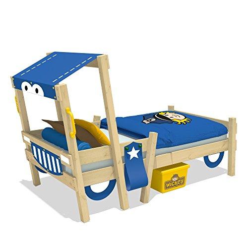 wickey polizeiautobett crazy sparky kinderbett 90x200cm. Black Bedroom Furniture Sets. Home Design Ideas