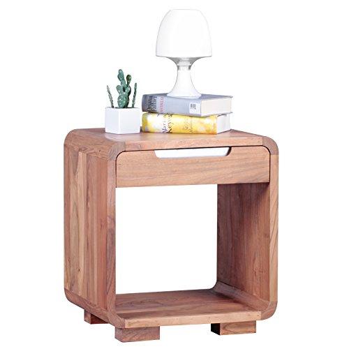 wohnling design nachttisch massivholz nacht kommode 50 cm. Black Bedroom Furniture Sets. Home Design Ideas