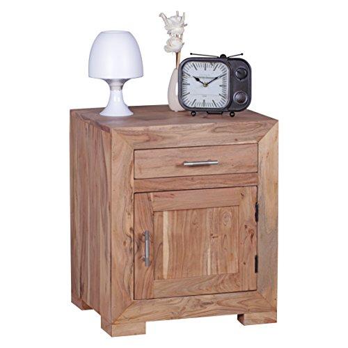 wohnling nachttisch massivholz design nachtkommode 60 cm. Black Bedroom Furniture Sets. Home Design Ideas