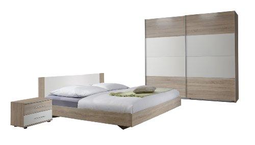 wimex 785342 schlafzimmer set bestehend aus bett 180 x 200 cm nachtschrankpaar je zwei. Black Bedroom Furniture Sets. Home Design Ideas