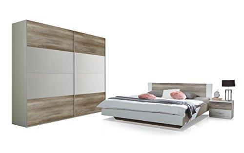 wimex 795342 schlafzimmer set bestehend aus bett 180 x 200 cm nachtschrankpaar je zwei. Black Bedroom Furniture Sets. Home Design Ideas