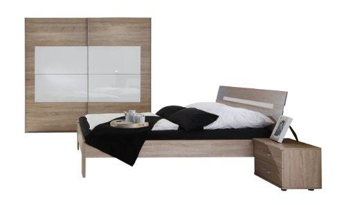 wimex 893342 schlafzimmer set bestehend aus bett 180 x 200 cm nachtschrankpaar 2x schubk sten. Black Bedroom Furniture Sets. Home Design Ideas