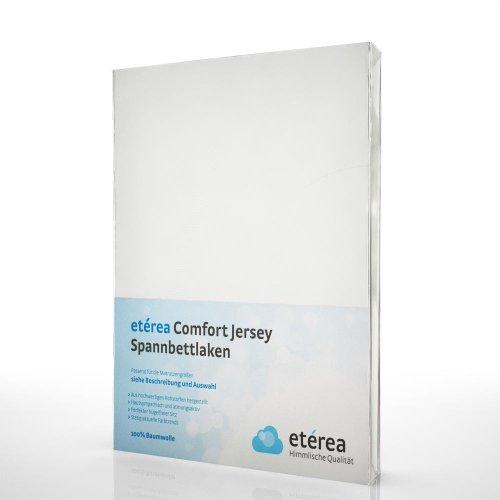 etérea Comfort Jersey Spannbettlaken Spannbetttuch in vielen unterschiedlichen Farben, 180x200 - 200x200 cm