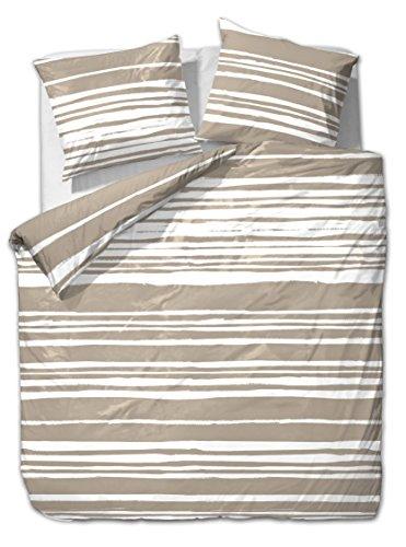 et rea microfaser bettw sche carola streifen schwarz opal. Black Bedroom Furniture Sets. Home Design Ideas