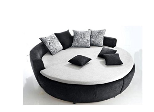 moebel4home rundbett polsterbett bett 200 cm mit kaltschaummatratze hrte 2 0 boxspringbetten. Black Bedroom Furniture Sets. Home Design Ideas