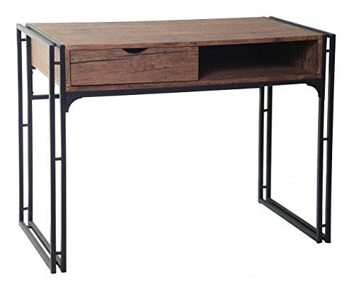 ts ideen design schreibtisch computer arbeitstisch konsole tisch mdf holzoptik und metall. Black Bedroom Furniture Sets. Home Design Ideas