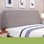 uus Moderne feste Farbe große Kissen Nachttisch Kissen Stoff Leinen Bett Kopf weiche Tasche Bedside große Rückenlehne Kissen waschbar großes Kissen 55 * 180cm ( Farbe : E )