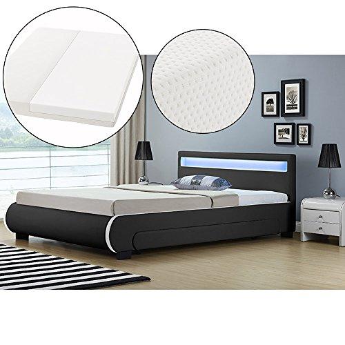 polsterbett bilbao 140 x 200 cm schwarz mit. Black Bedroom Furniture Sets. Home Design Ideas