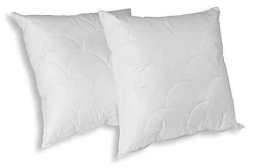 "Merino-Betten Kissen Innenkissen Kissenfüllung 45 x 45 cm Modell ""Wolke"" Doppelpack"