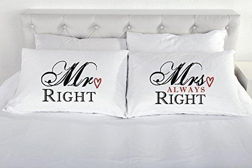 Mr Right Mrs Always Right Kissenbezüge Paar Paare Kopfkissen Kissen Fall Geschenk Romantische Betten Geschenk Valentinstag Hochzeit Engagement
