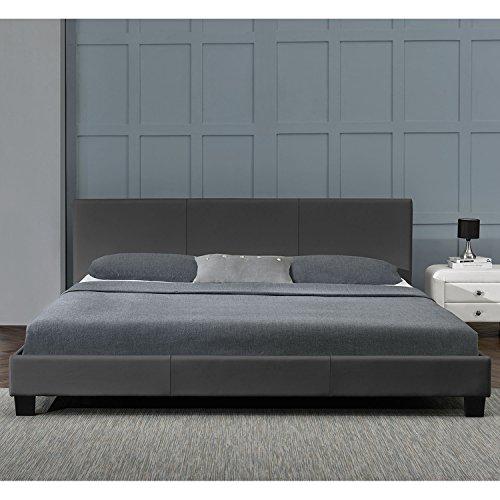 polsterbett barcelona 140 x 200 cm dunkelgrau mit. Black Bedroom Furniture Sets. Home Design Ideas