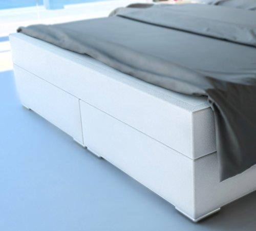 sam design boxspringbett berlin mit samolux bezug in wei led beleuchtung bonellfederkern. Black Bedroom Furniture Sets. Home Design Ideas