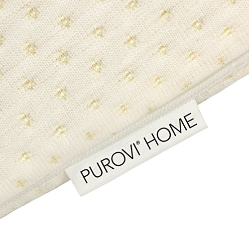 Purovi® Keilkissen für Bett und Sofa Couch - Kissen als perfekte Rückenstütze - Lesekissen und Lendenkissen
