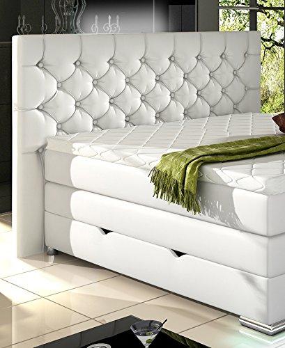 xxxl mailand boxspringbett mit bettkasten designer boxspring bett chesterfield led weiss. Black Bedroom Furniture Sets. Home Design Ideas