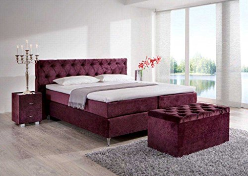 designer boxspringbett knopf made in germany tonnentaschenfederkern in der box und in der 7. Black Bedroom Furniture Sets. Home Design Ideas