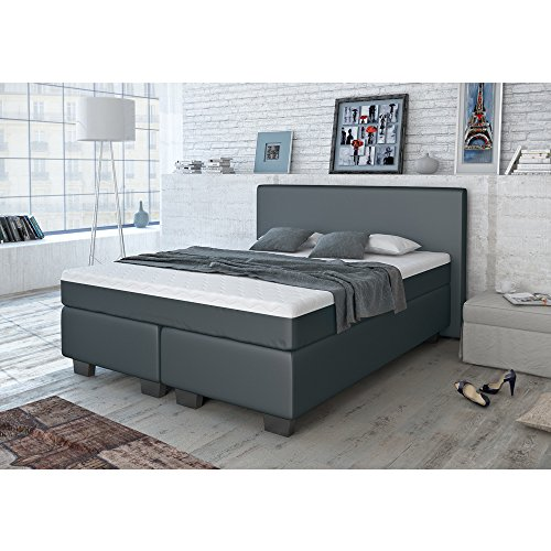 designer boxspringbett 140x200 160x200 180x200 doppelbett polsterbett bett hotelbett kunstleder. Black Bedroom Furniture Sets. Home Design Ideas