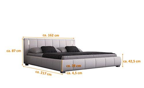 sam designer polsterbett luna in wei mit gepolstertem. Black Bedroom Furniture Sets. Home Design Ideas