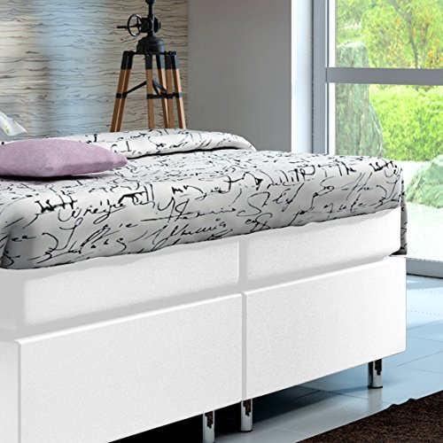 boxspringbett 160x200 hotelbett doppelbett polsterbett ehebett amerikanisches bett modell madrid. Black Bedroom Furniture Sets. Home Design Ideas
