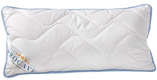 PROCAVE TopCool Qualitäts-Stepp-Kissen 40x80 cm | atmungsaktives Kopfkissen | Soft-Komfort | kochfestes Kissen | Winter- und Sommer-Kissen | made in Germany