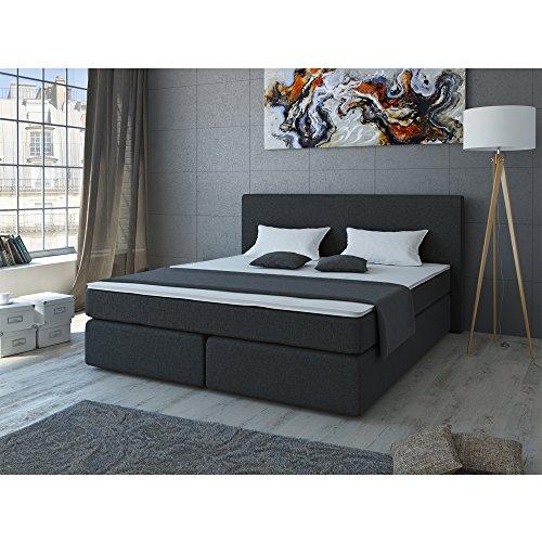 designer boxspringbett 180x200 doppelbett polsterbett bett. Black Bedroom Furniture Sets. Home Design Ideas